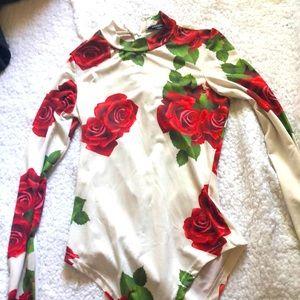 High cut long sleeve bodysuit